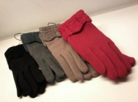 Перчатки б/и текстиль жен. Осень-Зима 2016